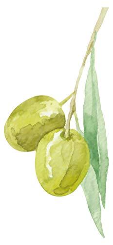 Wandtattoo Küche Olive am Strauch Wandsticker Früchte Dekoration mediterran (Früchte-küche Dekorationen)