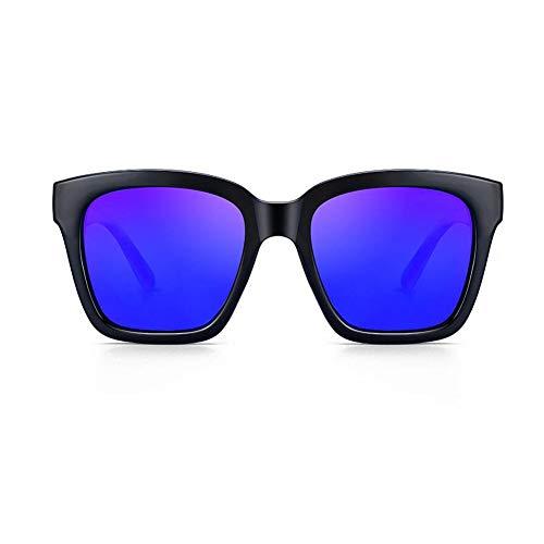 JFFFFWI Polarisierte Sonnenbrille verhindern uv a Block uvb uv-Schutz sonnenschirme Retro persönlichkeit Big Box Brille Sonnenschutz männlich Frau Tourismus (Farbe: 4)