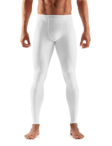 SKINS DNAmic Team Mallas largas, Hombre, Blanco, Medium