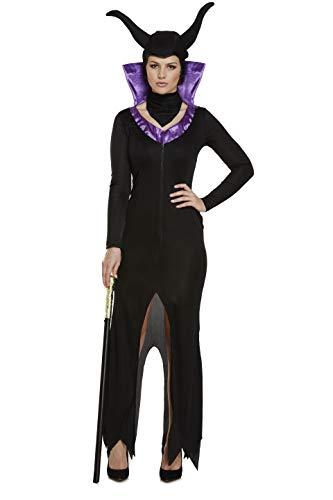 Emmas Garderobe böse Königin Kostüm - Schönes Kostüm Halloween UK Größe 8-12 (Women: 34, Black)