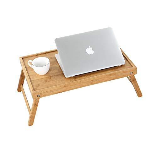 Lina Laptopständer Klappbarer Schreibtisch Esstisch Frühstückstablett Klappbeine Tragbarer einfacher Kleiner Bambustisch