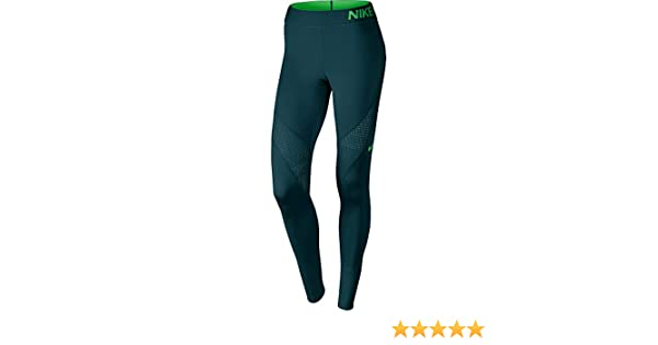e48c56f5e62a6 Nike Women's Pro Hypercool Tights, Midnight Turquoise/Light Green Spark,  X-Large: Amazon.co.uk: Sports & Outdoors