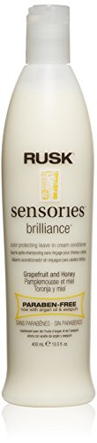 Rusk Sensories Brilliance Grapefruit and Honey Color Protecting Leave-In Cream Conditioner 400ml