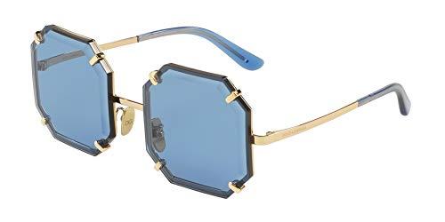 Dolce & Gabbana Sonnenbrillen GRIFFES & Stones DG 2216 Gold/Blue Damenbrillen