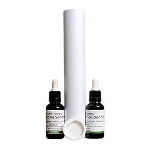 2x Lugol`sche Jodlösung, 5%, 2x30ml, Pharma Qualität. 5% elementares Jod und 10% Kaliumjodid. Doppelpack.