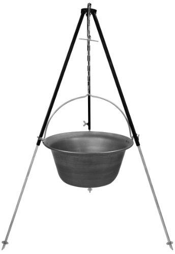 Gulaschkessel Eisen 22 Liter und Dreibein mit Kettenhöhenverstellung