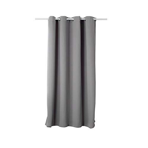 WOLTU #329, Vorhang Gardinen Blickdicht mit Ösen, 250g/m2 Schwerer Verdunkelungsvorhang Thermovorhang lichtdicht für Wohnzimmer Schlafzimmer Küche 135x175 cm, Grau, (1 Stück)