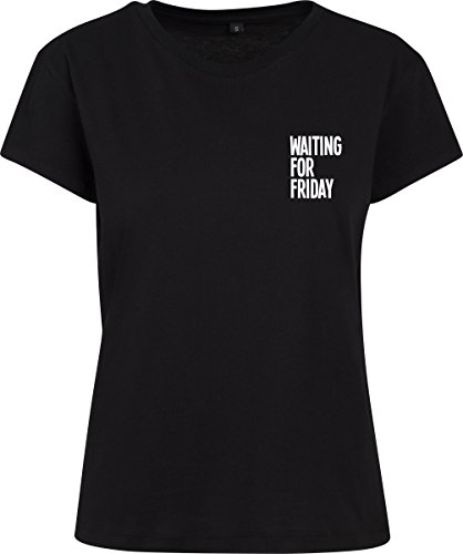 Mister Tee Damen Waiting for Friday Box T-Shirt, Black, L