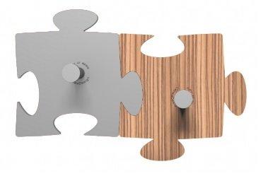 CalleaDeasign Porte-Manteau Mural Design Puzzle 2 éléments Aluminium – Zingana
