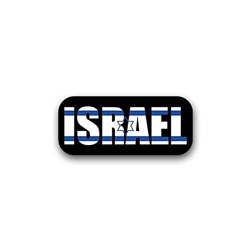 Aufkleber / Sticker - Israel Vorderasien Jerusalem Schriftzug Fahne Flagge Judentum Ivrit Arabisch 16x7cm #A1725