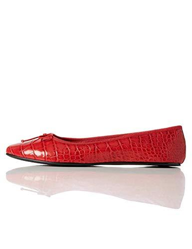 Find. Ballet Pump Bailarinas, Rojo Red, 38 EU