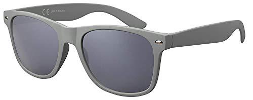 Original La Optica Verspiegelte UV400 Unisex Sonnenbrille Graues Gestell - Einzelpack Rubber Stealth Grey (Gläser: Grau)