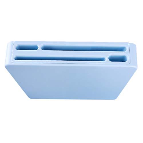 Bigsweety Multi Funktion Kunststoff Küchenmesser Aufbewahrungsblock Versteckter Messerhalter Organizer Rack (Blau)
