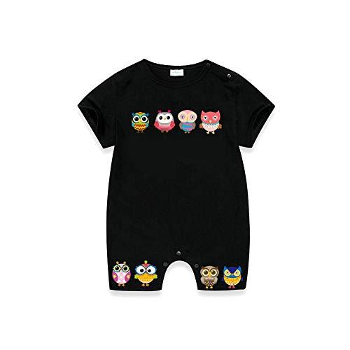 T-Shirt Druck Aufkleber Süße Eule Buntes Muster Tiermuster Kinder Eisen Auf Patch Baby Kids Cartoon Wärmeübertragung (Eisen Drucke Auf)