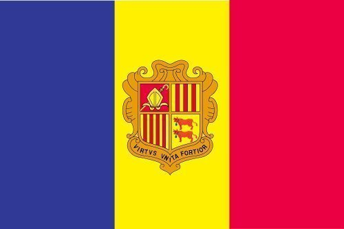 Nyl Glo Nylon (Andorra Flagge 3x5 ft. Nylon SolarGuard Nyl-Glo 100% Hergestellt in USA Offiziell United Nations Design Spezifikationen by Annin Flagmakers. Modell 199526 by Annin)
