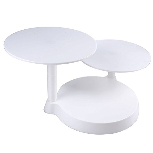 Uten 3 Tiers Cake Decorate Display Stand, 3 Plates Cake Support Stand for Birthday Wedding Party Cake Decoration and Presentation