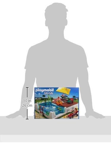 Playmobil 5575 gioco di costruzioni con piscina e for Piscine playmobil 5575