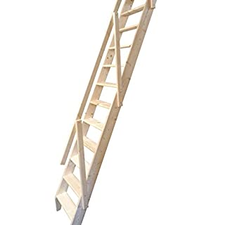 Dolle Arundel Wooden Space Saver Staircase Kit (Loft Stair) c/w Hook & Bar Set