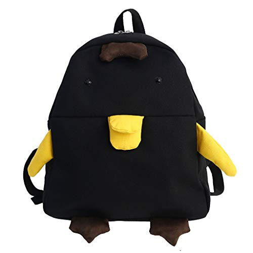 LILIGOD Rucksack Damen Klein Canvas Campus Taschen Kursteilnehmer Studentenrucksack Reisetasche Tagesrucksack Schultertaschen Umhängetasche Mädchen Nette Enten Taschen