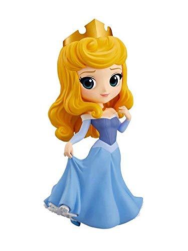 Figur Sammlung Prinzessin Aurora Briar Rose von Dornröschen 14cm Serie QPOSKET Banpresto Disney Characters Sleeping Beauty Blaues Kleid Version B
