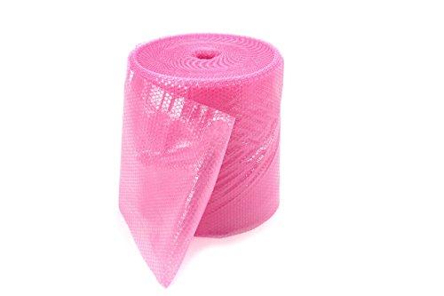 Preisvergleich Produktbild Luftpolsterfolie Rolle rosa antistatisch 60 cm x100 m / 80µ / 2-lagig / 10mm-Noppe ** Verpackungseinheit: 1 Rolle **