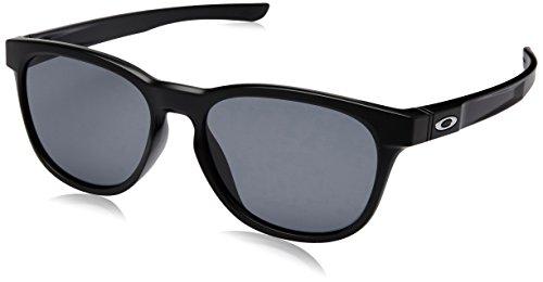 Oakley Herren Sonnenbrille Stringer Schwarz (Matte Black/Grey), 55