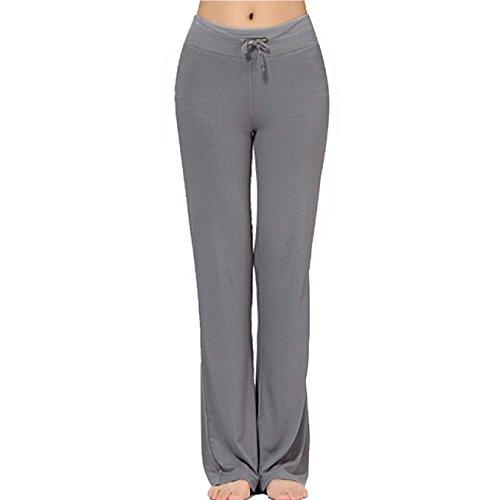 Frauen-Tunnelzug-Hose Modal Comfy Yoga-Hose Tanz und im Freiensport (M, Dunkelgrau) - Hose Frauen Adidas Yoga