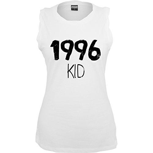 Geburtstag - 1996 KID - ärmelloses Damen T-Shirt mit Brusttasche Weiß