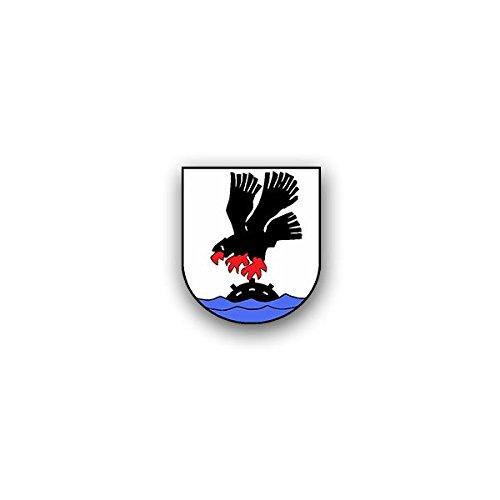 Copytec Aufkleber/Sticker -4 MSG Minensuchgeschwader Marine Bundeswehr Wappen Abzeichen Flottille der Minenstreitkräfte 7x6cm #A3287