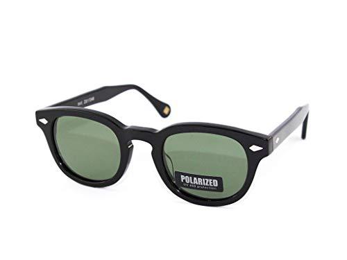 X-LAB Sonnenbrillen 8004 moscot style, unisex polarisierte Gläser (Schwarz, G15)