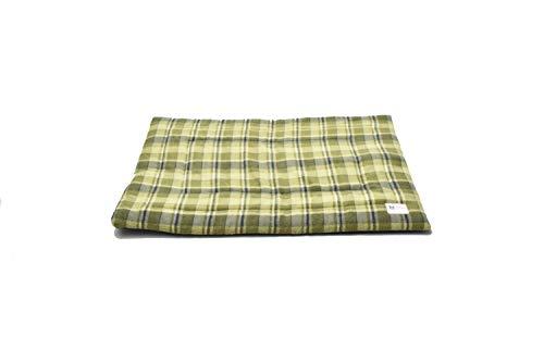 Haustierbett Matte, Medium, Light Green Plaid -
