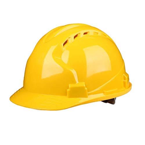 WYNZYSLBD Bauarbeiterhelm for Schutzhelme, Mit Belüftetem 4-Punkt-Bauarbeiterhelm Mit Belüftung (Color : F)