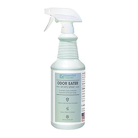 Essential Values Sportausrüstung (Sprühflasche) - Spray Geruch Esser Deodorizer Für Sporttaschen, Sportgeräte & Tennisschuhe 16Oz Weiß