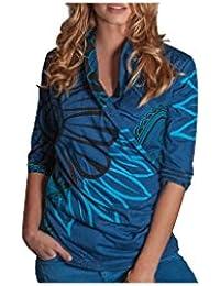 Aller Simplement - T-shirt en coton à manches 3/4 effet cache coeur Aller Simplement TS6302