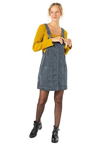 Urban Surface Damen Latz-Kleid aus gewebtem Cord-Stoff Dark-Blue M