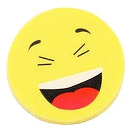 4pcs-Neuheit-Radiergummis-Smiley-Laughing-Shy-Emoji-Rubbers-Nette-Geschenke-fr-Geburtstag-Kinder-Party-Gelb