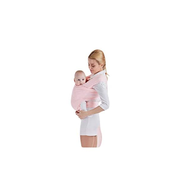 AniKigu Baby Wrap Carrier for Baby Newborn Within 16 KG, Gift to The New Mum, Ideal for Breastfeeding, Multifunctional Back Method, Light and Breathable, Soft Cotton and Comfort Spandex, 0.58Mx5.3M AniKigu Use 95% cotton and 5% spandex in a high quality material Say goodbye to shoulder pain and back strain; The baby wrap carrier surrounds you and your baby's spine, making it easy to counteract the baby's weight with your back; No longer get tired or get any sore muscles Stay close to mom's heart, a baby can hear your heart beating and feel the warmth from your body in the sling where he can feel peace of mind 3