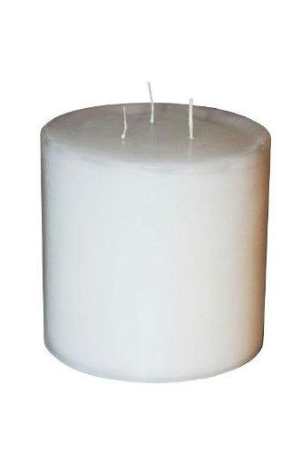 Preisvergleich Produktbild Runde Dreidochtkerze / Mehrdochtkerze - Weiß - Höhe 15cm / Ø 15cm - Lange Brenndauer (100 Stunden) - Hochwertige Stumpenkerze mit mehreren Dochten