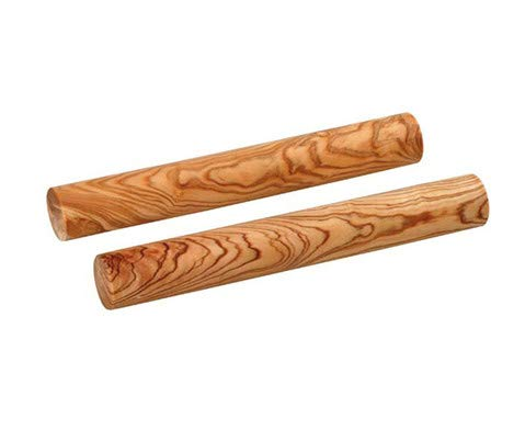 Betzold Musik 1 Paar Claves aus Kokosnußholz, 20 cm, heller Klang - Klanghölzer Klangstäbe Percussioninstrument Musikinstrument Musik musikalische Früherziehung