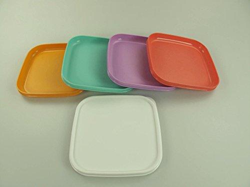 TUPPERWARE Picknickteller To Go Picknick mint+flieder+orange+lachs (4) 10426
