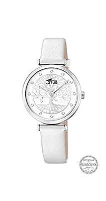 Reloj Reloj Lotus Bliss Swarovski 18706/1 Mujer, Esfera Blanca con Árbol de la Vida, Caja 29 MM, Correa Piel Blanca