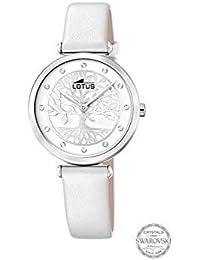 Reloj Reloj Lotus Bliss Swarovski 18706/1 Mujer, Esfera Blanca con Árbol de la