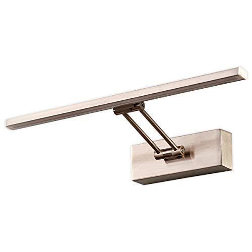 Lampenwelt LED Wandleuchte \'Emilias\' (Modern) in Alu aus Metall u.a. für Wohnzimmer & Esszimmer (1 flammig, A+, inkl. Leuchtmittel) | Bilderleuchte, Wandlampe, Wohnzimmerlampe