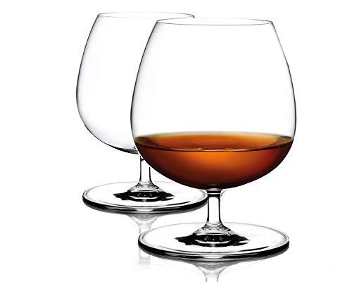 Cognacgläser aus Kristallglas (500ml groß und spülmaschinenfest) Brandyglas Cognacschwenker (2-teiliges Set)