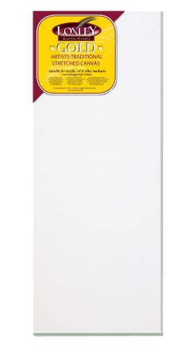 Loxley Gold 20 x 8-inch 50 x 20 cm 18 mm Traditional Depth Stretched Artist Canvas Primed by Loxley Gold