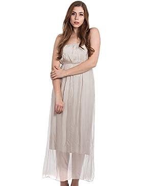 [Sponsorizzato]Abbino 5803 Vestiti Donne Ragazze - Made in Italy - 4 Colori - Mezza Stagione Primavera Estate Autunno Uni Signore...