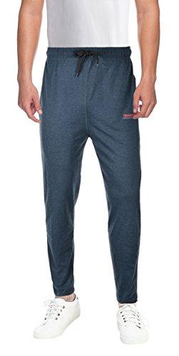INNER SOUL Men's Cotton Track Pant (IS_002_darkgreymix--XL, Blue, X-Large)