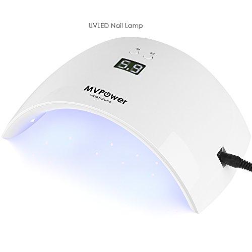 MVPOWER UV 36 W,Lampada UV per gel unghie e semipermanente, 18 led,sensore IR e Display LCD