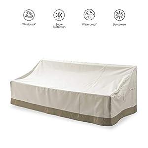 Lumaland Abdeckung für 3-Sitzer-Sofa Gartenbank 84 x 204,5 x 74 cm robuste Schutzhülle für Gartenmöbel Oxford 600D 280 g…