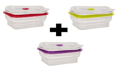 acheter populaire 8f263 a89a5 3 Boîtes de Conservation Alimentaire en Silicone Hermétique ...